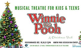 "Promotional poster for ""Winnie the Pooh: A Christmas Tail..."