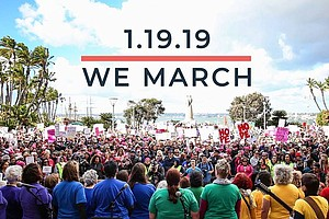 Promotional graphci courtesy of Women's March San Diego.