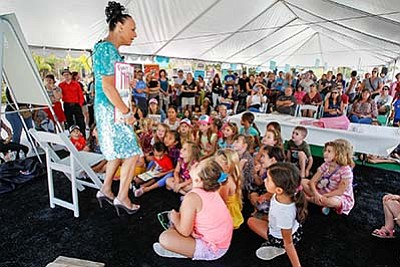 Photo from the 2017 children's area of the festival. Cour...