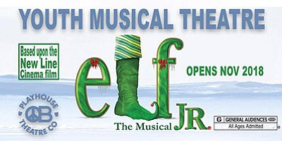 """Promotional poster for """"Elf Jr. The Musical."""" Courtesy of..."""