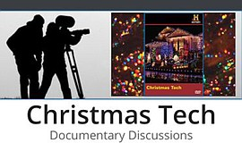 Promotional graphic for the Christmas Tech documentary. C...