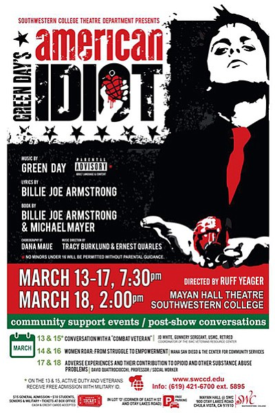 Promotional flyer for Southwestern College's production o...