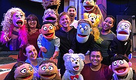 """A promotional photo for """"Avenue Q,"""" courtesy of New Villa..."""