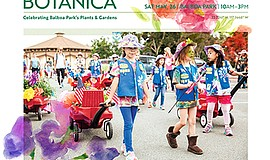 Promo graphic for Fiesta Botanica: Celebrating Balboa P...