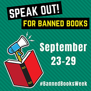 Promotional graphic for Banned Books Week.