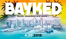 Promo graphic for Bayked By The Bay Festival