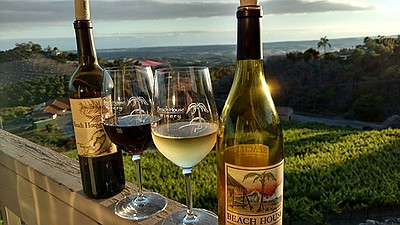 Promotional photo of wine. Courtesy of Beach House Winery