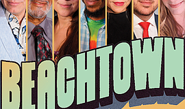 Promo graphic for 'Beachtown' At San Diego Rep