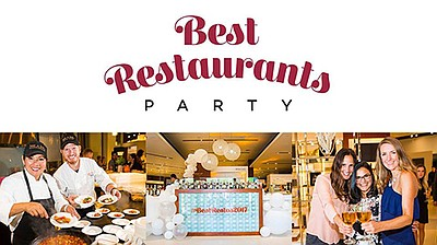 Promotional graphic for the Best Restaurants Party 2018. ...