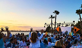 Promotional photo for the California Dreaming Beach Party...