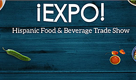 Promotional graphic for the Hispanic Food & Beverage Trad...