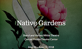 Promo graphic for 'Native Gardens'