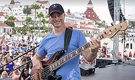 Photo of Gary Sinise performing at the hotel. Courtesy of...