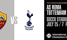 Promotional graphic for the A.S. Roma Vs. Tottenham Hotsp...