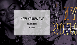 Promotional graphic for the New Year's Eve celebration. C...