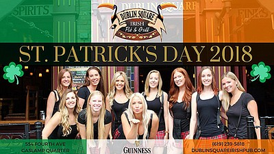 Promotional graphic for the St. Patrick's Day celebration...