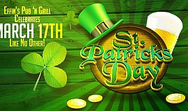 Promo graphic for Effin's St. Patrick's Weekend & Colle...