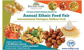 Promotional flyer for the 38th Annual Ethnic Food Fair. C...