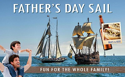 Promotional photo for the Father's Day Sail. Courtesy of ...