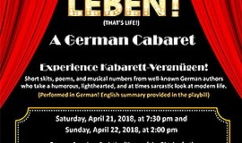 Promo graphic for The German Theater Group San Diego Pr...
