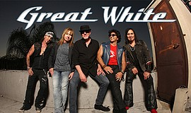 Promo graphic for Great White Concert