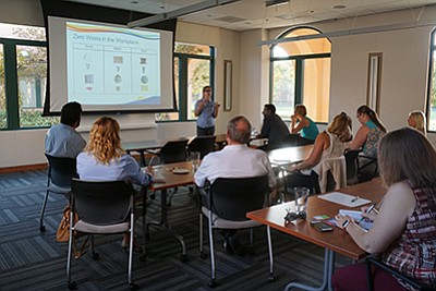 Photo from a previous energy and climate workshop. Courte...