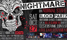 Promo graphic for Nightmare On Normal Street