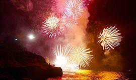 Photo from a previous La Jolla Cove Fourth of July celebr...