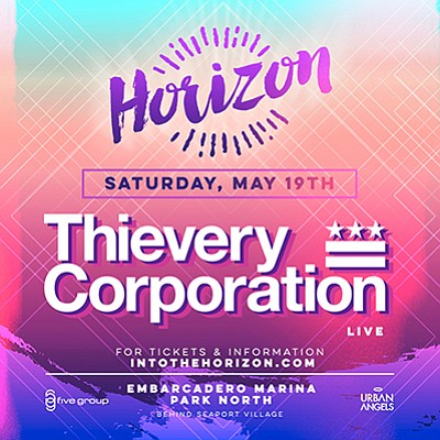 Promotional graphic for the Horizon Music Festival. Court...