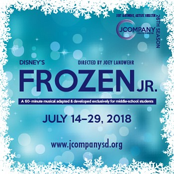 "A promotional graphic for""Frozen, Jr.,"" courtesy of SDCJC."
