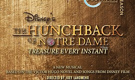 """A promotional graphic for """"The Hunchback of Notre Dame,"""" ..."""