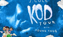 """Promotional poster for the """"KOD"""" Tour. Courtesy of Dreamv..."""