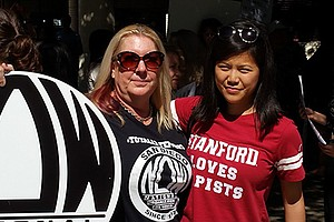 Photo with Kim Sontag-Mulder, co-president of the San Diego chapter of the Na...
