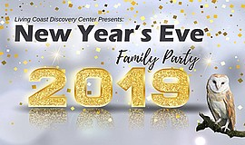 Promotional graphic for the New Year's Eve Family Party a...