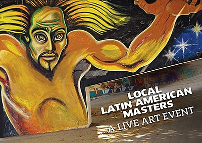 Promotional flyer for Local Latin American Masters. Court...