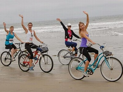 Promotional photo for the Low Tide Ride & Stride. Sponsor...