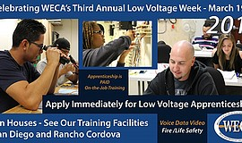 Promo graphic for SoCal WECA Low Voltage Open House
