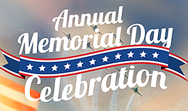 Promo graphic for 12th Annual Memorial Day Celebration