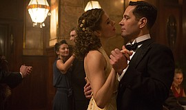 Paul Rudd and Sienna Miller in The Catcher Was a Spy (2018).