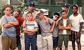 """Photo of the cast of """"The Sandlot."""" Courtesy of 20th Cent..."""