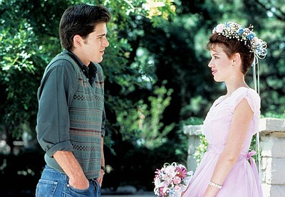 Molly Ringwald and Michael Schoeffling in Sixteen Candles...