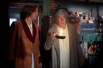 Christopher Plummer and Dan Stevens in The Man Who Invent...
