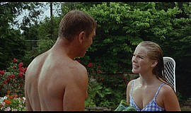 Promo graphic for FILM FORUM: 'The Swimmer'