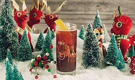 Promotional photo of the Run Run Rudolph cocktail. By Mel...