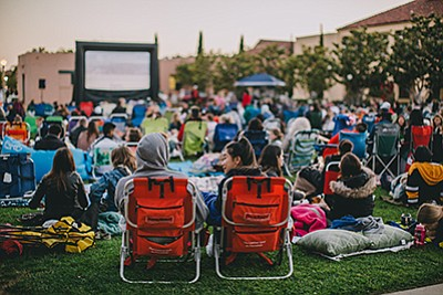 A promotional photo for Liberty Station Outdoor Movies, c...