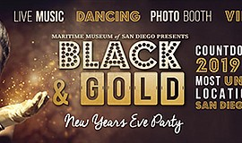 Promotional graphic for the New Year's Eve party. Courtes...