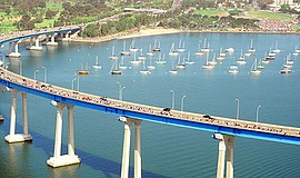 Promotional photo of participants on the Coronado Bridge ...