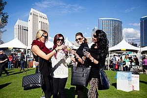 Promotional photo for the San Diego Bay Wine + Food Festival