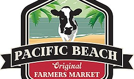Promo graphic for Pacific Beach Original Farmers Market...