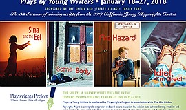 Promo graphic for Plays By Young Writers 2018